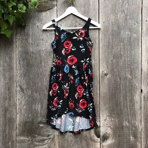 Other - Black floral high low tank dress for girls